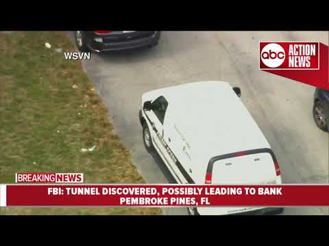 Underground tunnel leading to bank discovered in Florida, FBI investigating