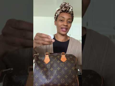 *WATCH* how I cleaned Louis Vuitton Speedy 25 handles PART 1