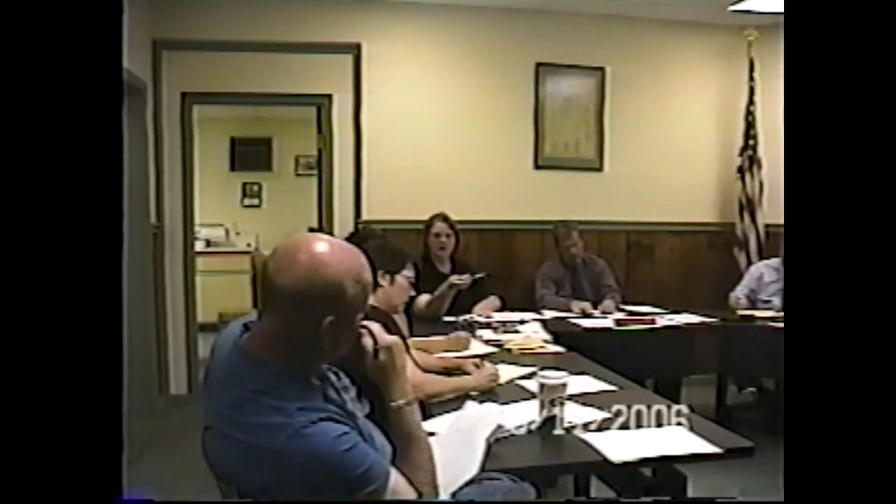 Champlain Village Board Meeting  9-11-06