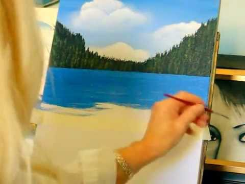 How to paint water, for oceans, lakes, and rivers, easy technique for the beginner!