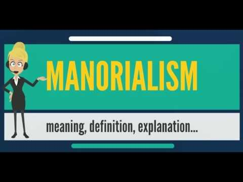 What is MANORIALISM? What does MANORIALISM mean? MANORIALISM meaning, definition & explanation