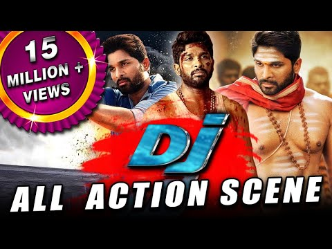 DJ All Back To Back Action Scenes Hindi Dubbed | Allu Arjun, Pooja Hegde, Rao Ramesh