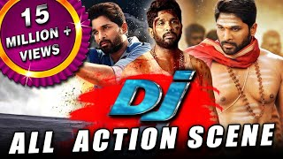 DJ All Back To Back Action Scenes Hindi Dubbed  Allu Arjun Pooja Hegde Rao Ramesh