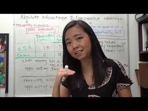 Mini video: Absolute advantage and comparative advantage (1)