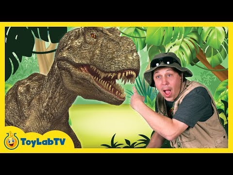 Download Youtube: T-Rex Giant Life Size Dinosaur & Park Ranger Aaron with Dinosaur Surprise Toys Opening