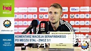 hej.mielec.pl TV: STAL Mielec - Znicz Pruszków [Konferencja, Maciej Serafiński]