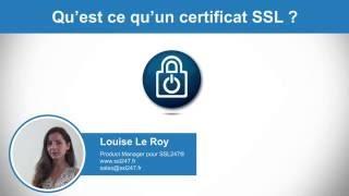 Qu'est ce qu'un certificat SSL ?