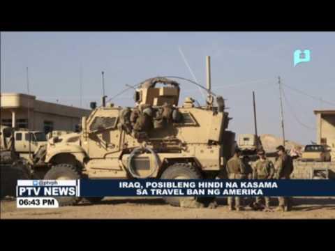 Iraq, posibleng hindi na kasama sa Travel ban ng Amerika