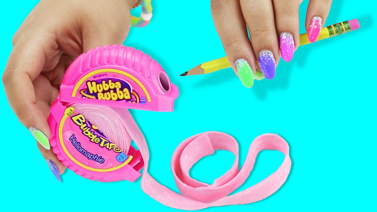 Diy Bubble Gum Pencil Sharpener Youtube