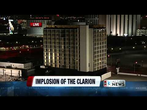 Live coverage of the Clarion Hotel & Casino Implosion