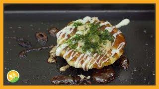 Làm bánh xèo Nhật Bản tí hon - Okonomiyaki