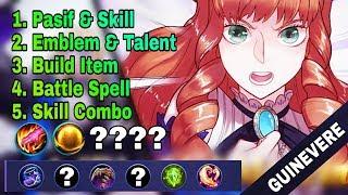 New Hero [GUINEVERE] Skill, Emblem, Build, Combo Menuju PRO - Mobile Legend Bang Bang