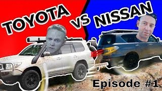 BATTLE SERIES Ep1 - WHAT's WRONG WITH THESE TRUCKS - LandCruiser 200 VS Y62 Patrol