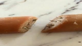 Warning after hot dog with razor blades found in Regina