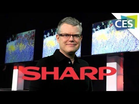 Sharp Press Conference: 90in LCD Screens, Gen. 10 Glass Structures and IGZO Technology - CES - 2013