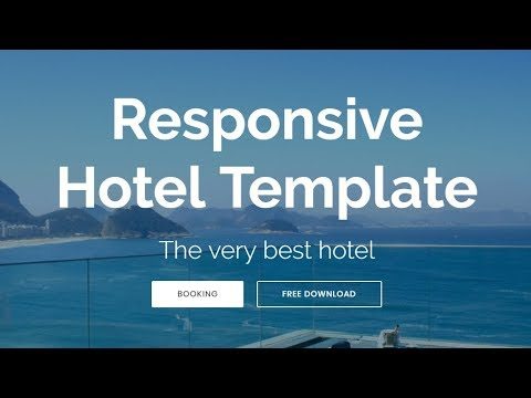 Bootstrap Hotel Template Free Html Website Templates Youtube