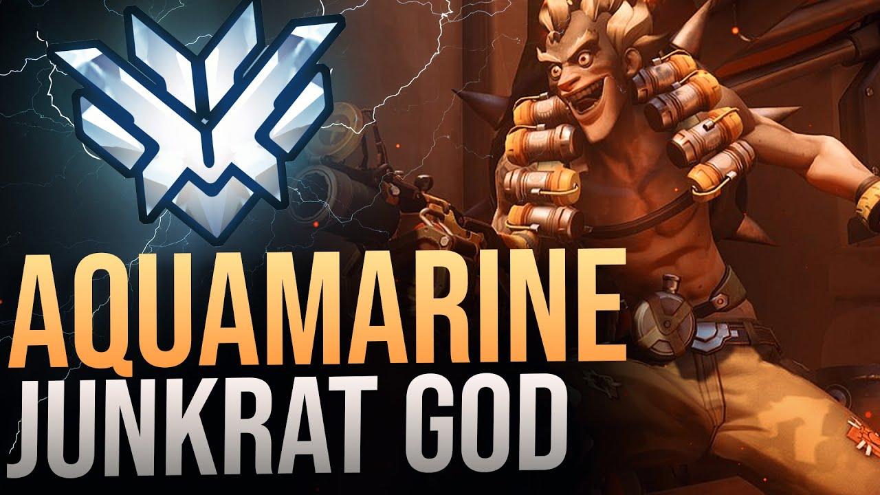 """Best Of  """"AQUAMARINE"""" RANK 1 JUNKRAT - Overwatch Montage"""