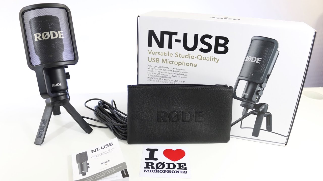 rode nt usb microphone first impressions unboxing setup youtube. Black Bedroom Furniture Sets. Home Design Ideas