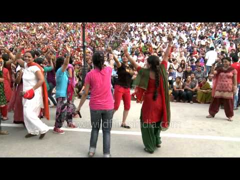 The freedom jam at Wagah border on India