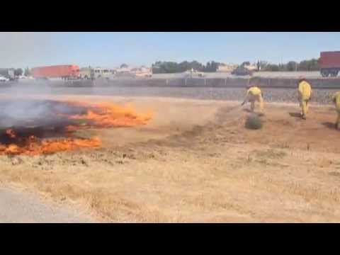 How To Kill A Brush Fire - The Modesto Fire Department