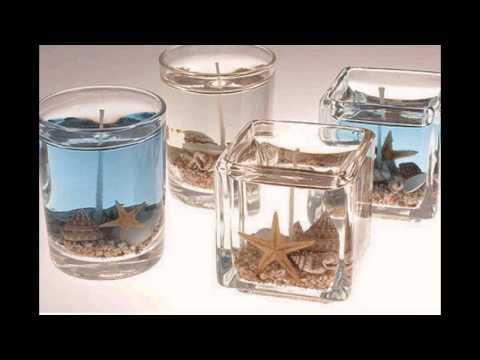 Velas aromaticas con dise os en gel detalle para san - Velas de diseno ...