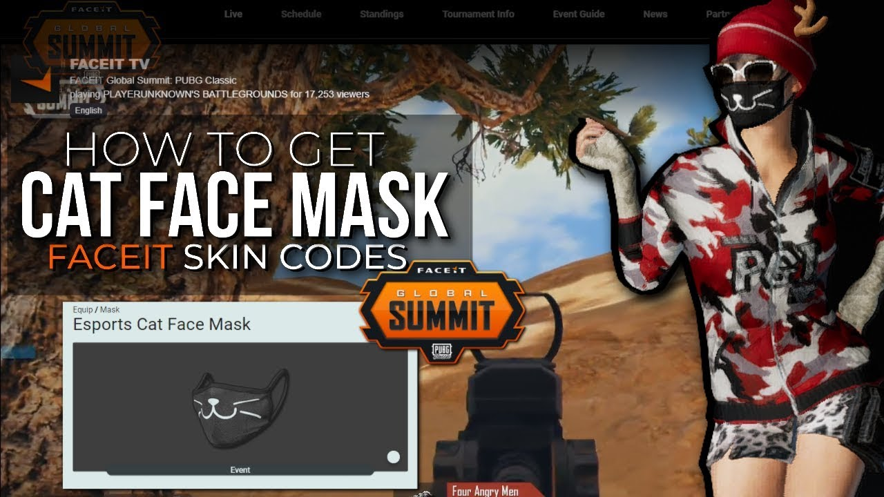 HOW2GET Cat Face Mask (FaceIt Summit Global) | PUBG News&Guide Day47