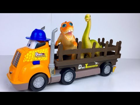 KID CONNECTION DINO BUDDIES TRANSPORTER WITH DINOSAURS T-REX BRACHIOSAURUS & TRICERATOPS - UNBOXING