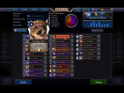 Eternal CCG (Patch 1.26): Moment of Creation Deck (Competitive Ranked)