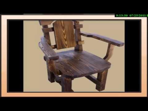 Мебель из массива сосны с эффектом старения   2