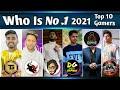 Top 10 Gaming Youtubers in India 🇮🇳   Ft. Techno Gamerz, Total Gaming, Dynamo Gaming, Desi Gamers