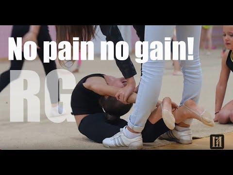 Children In Rhythmic Gymnastics / No Pain No Gain!