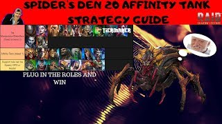 SPIDERS DEN 20 AUTO GUIDE | AFFINITY TANK STRATEGY | RAID SHADOW LEGENDS
