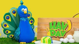EPIC CAKE CHALLENGE! My Hay Day Peacock Cake | How To Cake It