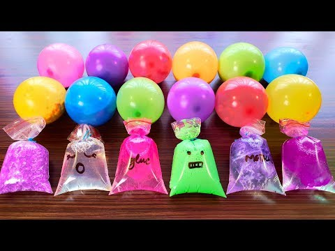 Making Slime with Bags and Balloons #5