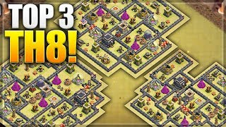 TOP 3 TH 8 (Town Hall 8) ANTI 2 STARS WAR BASE 2018 | New UPDATE Best Defense Base | Clash Of Clans