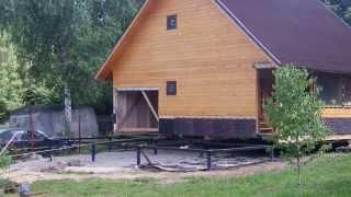 Передвижение домика в Заокском в реальном режиме времени(Одна из работ по замене фундамента. Сложность состояла в том, что дом строился изначально из пристраиваемых..., 2014-01-12T15:59:59.000Z)
