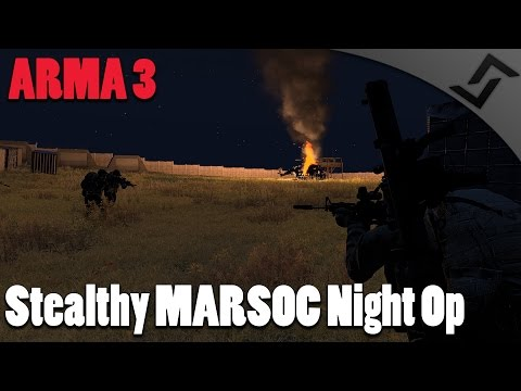 ARMA 3 - Stealthy MARSOC Night Op - SMAW Rocket Launcher Gameplay