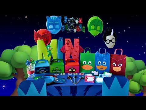 How to throw a DIY PJ MASKS PARTY! Free Downloads!