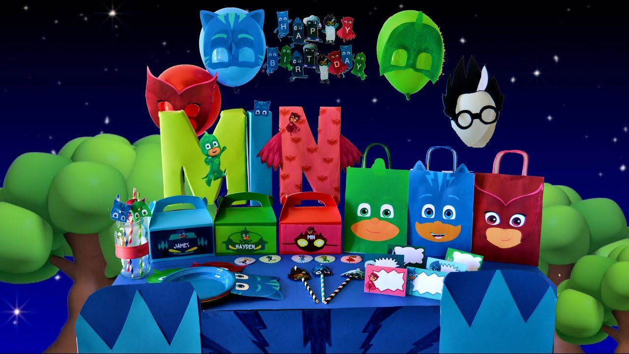 Pj masks theme birthday party Pj masks party diy Cumpleaos
