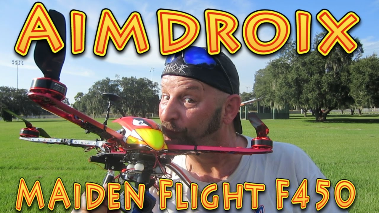 Aimdroix Extension Arms Maiden Flight DJI F450!!! (09 05 2015)