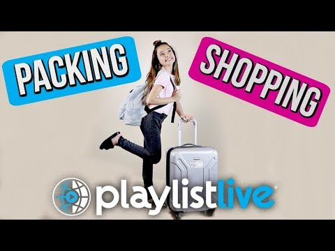 Packing and Shopping for 🌐 PLAYLIST LIVE 🌐 ORLANDO 2018