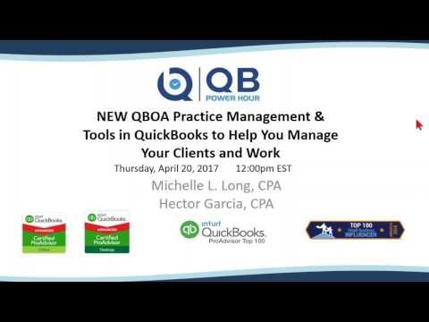 Practice Management in QuickBooks Desktop & Online (QBO) + NEW Practice Management in QBOA