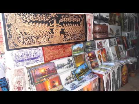 Khmer Artists Painting for Seller | Angkor Wat | Siem Reap  | Oknha Meas