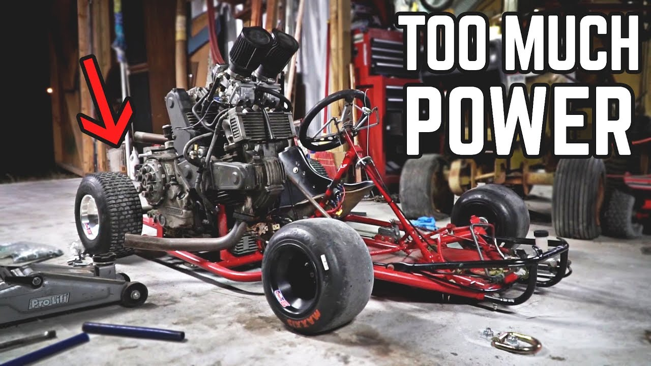 80HP Go Kart Twists Chassis | Burnout Gone WRONG