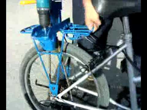 จักรยานสว่านไฟฟ้าไร้สาย cordless drill bike