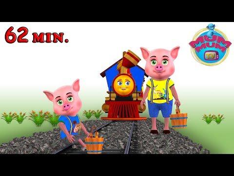 Piggy On The Railway Line Song - Best Baby Nursery Rhymes Songs in English   Mum Mum TV