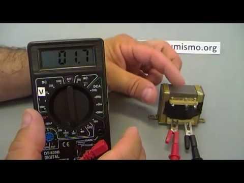 VIDEO 2 min: COMO LOCALIZAR LOS TEMINALES DE UN TRAFO 0-125-220/ 12V