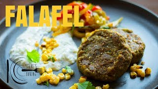 CURRIED FALAFEL WITH PICKLED CORN, PEPPERS & TZATZIKI | stevescooking