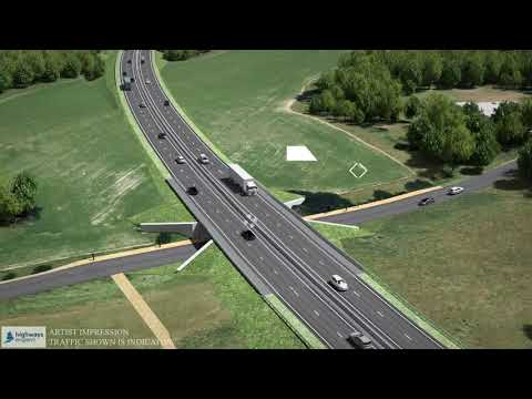 Visualisation of the A27 Arundel Bypass improvements scheme preferred route