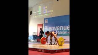 Manuel Minginfel 105kg Snatch